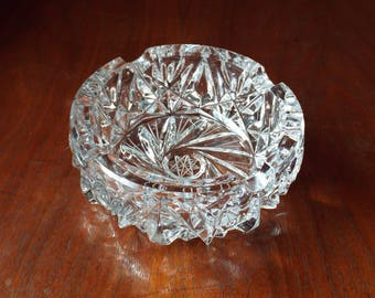 Vintage Ashtray; Vintage Glass Dish Candy Dish