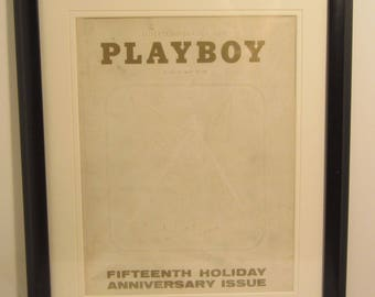 Vintage Playboy Magazine Cover Matted Framed : January 1969 - Rabbit Head