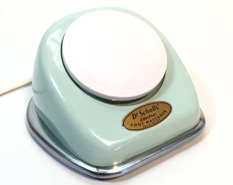1960's Turquoise Massager Dr Scholls Electric Vibrating Foot Massage
