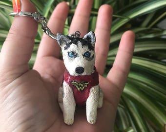 Husky dog charm