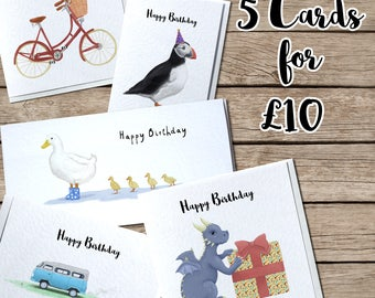 SPECIAL OFFER! - Five Handmade Greetings Cards for Ten Pounds