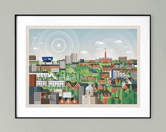 Edgbaston (XLarge) (Art print, signed, framed) >>Collection only<<
