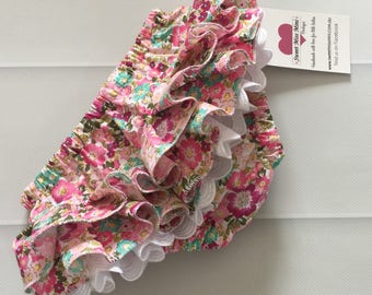 Baby Pants, Ruffled Nappy Cover , Nappy Cover , baby girl, new baby, baby gift, christening gift, size 0