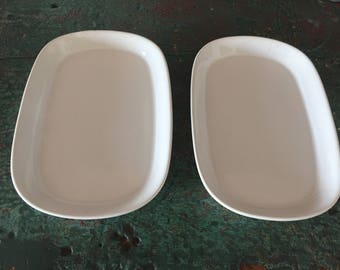 Vintage TWA First Class Meal Service Plates - Set of 2
