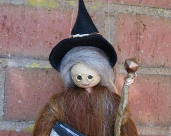 Millie - Wool Felt Witch. Woodland Fairy. Magical Witch. Hand Made. Pagan Doll. Spells. Wiccan Doll. Fairy Witch. Forest Witch