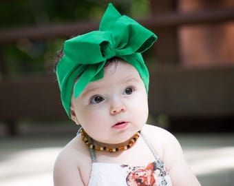Green Headwrap, head wrap,  Fabric Head Wrap, Baby headwrap, Newborn Head Wraps, Toddler Headwraps, green headband