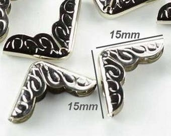 No.4 - Angle corner Protector for book 15x15x2mm color silver