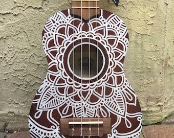 Painted Soprano ukulele