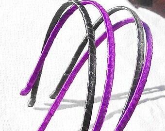 1 HEADBAND RIBBON PURPLE 4 MM METAL HEADBAND