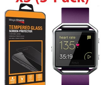 Premium Tempered Glass Screen Protector Guard for Fitbit Blaze Smart Watch by Ciella