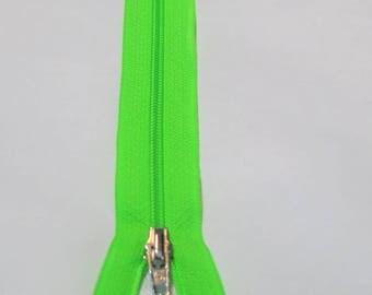 Fermeture éclair FLUO Vert 15 cm
