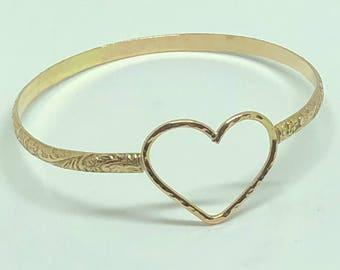 Gold Filled Heart Hawaiian Heirloom bracelet