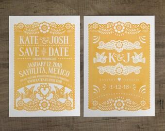 Papel Picado Save the Date - Papel Picado Suite -