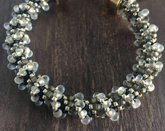 Cellini Spiral Bracelet in black