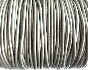 leather cord 3 mm silver PR01000 100 m