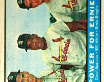 1961 Topps Power for Ernie #451 Cardinals Awesome Card