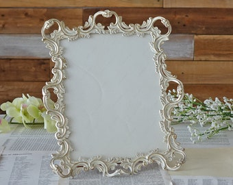 Victorian frame Picture frame Shabby chic decor Ornate metal frame Vintage