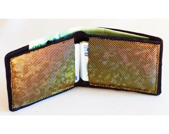 Vinyl Gold Holographic Shattered Glass Vegan Wallet