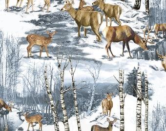 Wintertime Deer ~ No Sew Hand Tied Fleece Blanket
