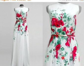 Women's Dress/Hand Painted Dress/Long Dress/Elegant Dress /Maxi Dress/Official Dress/Handmade Dress