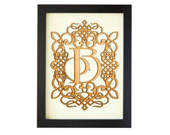 B - FRAMED MONOGRAM