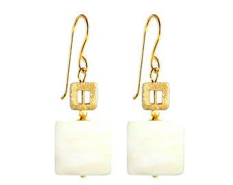 Murano Glass Earrings 'Tetragono' by Mystery of Venice, Murano Glass Earrings, Murano Glass Jewelry, Murano Glass, Greek Earrings