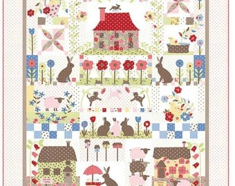 COTTONTAIL COTTAGE - Quilt Pattern from Bunny Hill Designs - Block of the Month Pattern/9 Months - BHD 2128
