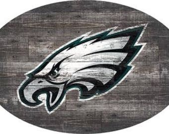 Philadelpia Eagles Wall Art 46 INCH Distressed Wood Sign