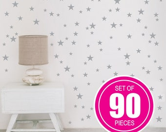 Gold Star Decals, Star Wall Decal, Nursery Wall Decals, Star Wall Stickers,