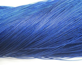 20 m braided blue wire 0.8 mm