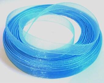 5 m Blue 10mm organza Ribbon