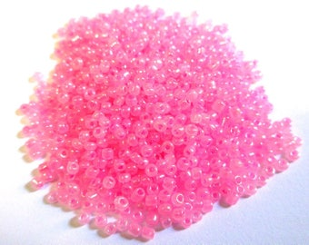 10gr Pink Pearl 2mm (about 800 beads) glass seed beads