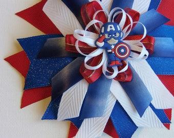 Avengers: Captain America Hair Bow