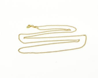 """14k 1.1mm Cable Link Loose Fancy Chain Necklace Gold 16"""""""