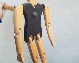 Dancing Jointed Toy Handmade Jigger Figure