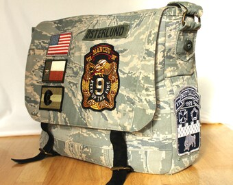 Military Messenger Bag - Custom Handmade from Your Uniform
