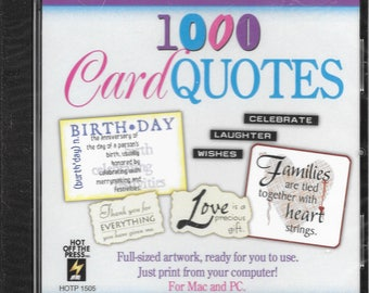Hot off the Press - 1000 Cardmaking Quotes - NIP/Unopened