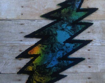 Labradorite Grateful Dead 13 point lightning bolt patch