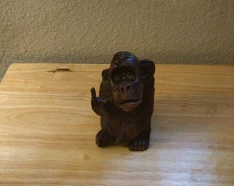 Wooden Carved Monkey