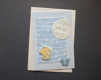 Cute Baby Boy Card  FREE SHIPPING