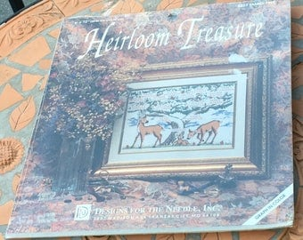"""Heirloom Treasure 5223 Family Tree Counted Cross Stitch Kit Ancestry Genealogy  Heritage  Designs For The Needle New Sealed 9 """" x 12 """""""