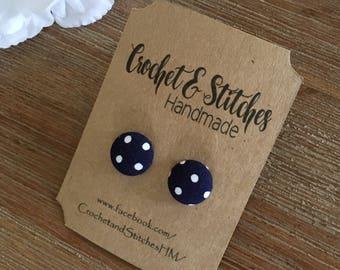 Fabric Earrings ~ Ladies Earrings ~ Studs