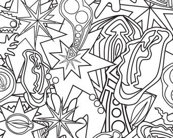 """""""Pure Filth"""" Naughty Adult Coloring Page"""