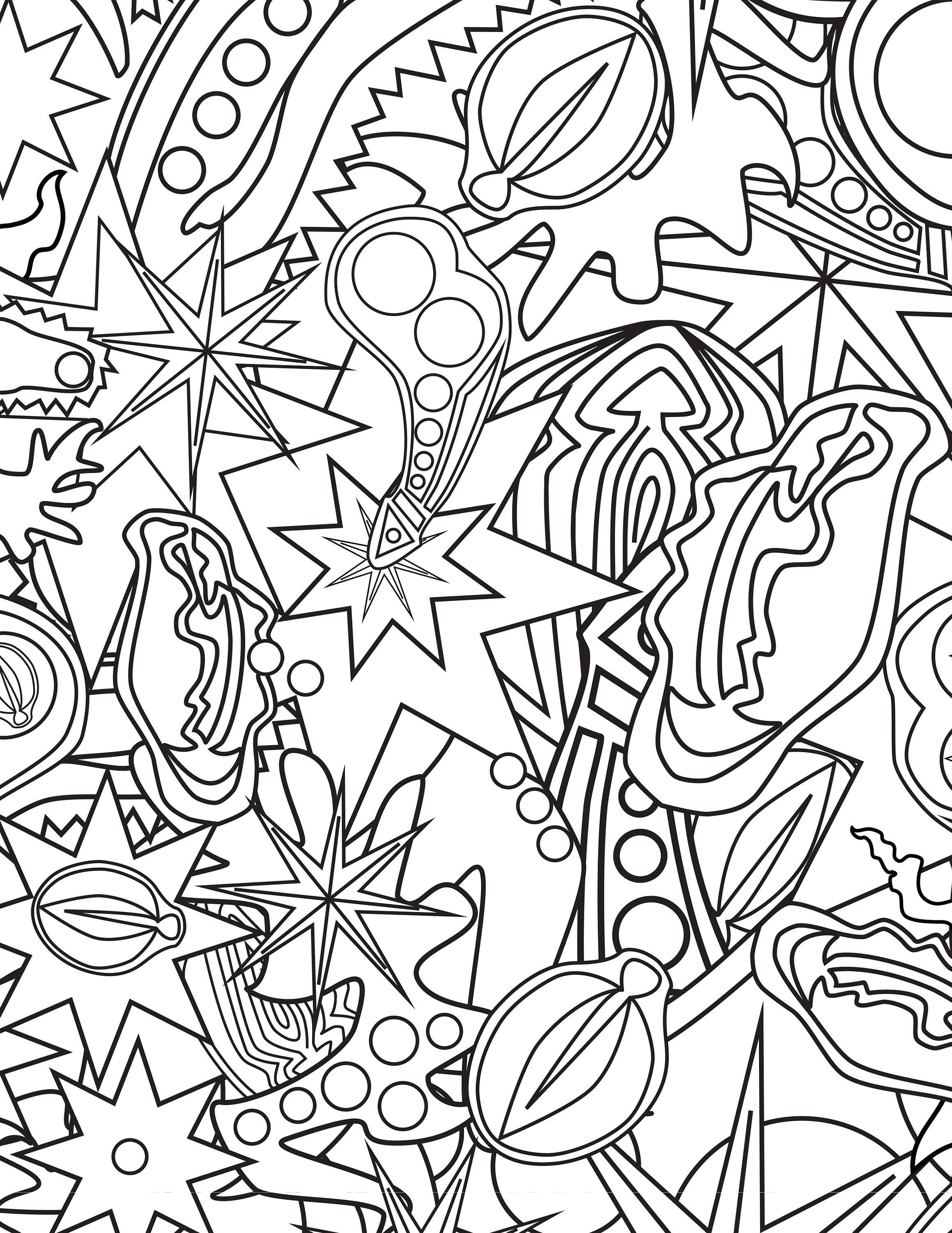 Adult Naughty Coloring Page 3 Pack Abstract Geometric Pop