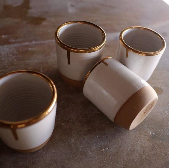 Gold Rim Tea Bowl