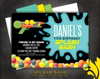 SPLASH BASH . birthday invitation