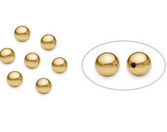 5 Pcs 6 mm 14K Gold Filled Round Beads (2011000006) Seamless