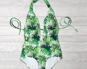 Bathing Suit for Women, Handmade Swimsuit, Ladies Swimwear, Padded Swimsuit, Designer Swimwear, Unique Swimsuit, Halter Neck, Monokini