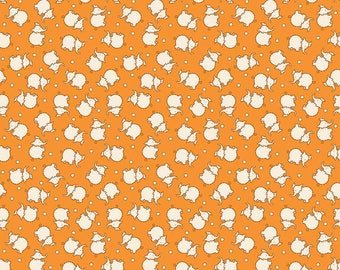 Toy Elephants on Orange - Riley Blake Fabrics - Reproduction 1930s - Sold by the Half Yard