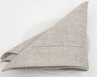 SPECIAL PRICE - Linen 4, 6, 8 Napkins, Linen Napkins, Light Grey Linen Napkins, Table Decoration, Dining Table Napkins, Christmas Gift